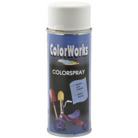 ColorWorks hobbyspray, halvblank renhvid
