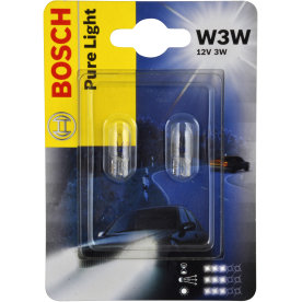 Bosch w3w mini halogen/glassokkel lampesæt