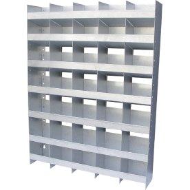 Boltreol 35 rum, galv. stål, 760x1000x145 mm