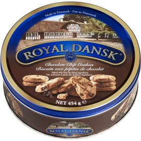 Royal Danish Chocolate Chip Cookies i dåse, 454g