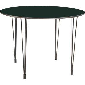 Comfort kantinebord sort, Ø 100