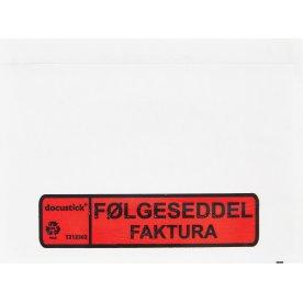Følgeseddelslomme Følg./Fakt., C6, 1000 stk.
