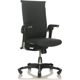 HÅG H09 Kontorstol sort alu/sort læder Medium