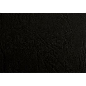 GBC Leather-Grain Indbindingsomslag, A3, sort
