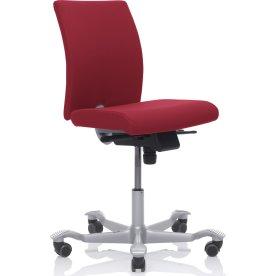 HÅG H04 kontorstol Rød Extreme sølvfarvet stel