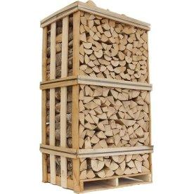 Ovntørret ask i brændetårn, ca. 1,8 m3