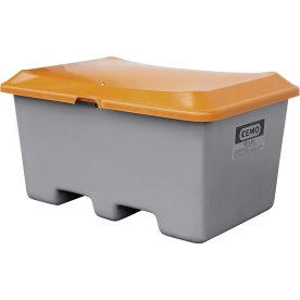 Salt-/sandbeholder 400 L, gaffelåbning, Grå/orange