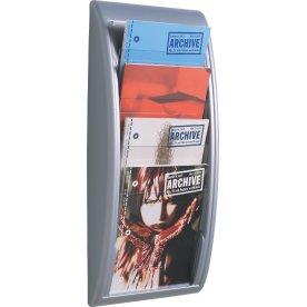 Quick Vision Brochurestativ A4 4 fag, alu/grå