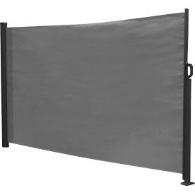 Solsejl til have og terrasse, 300x160 cm, sort/grå