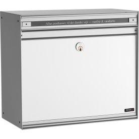 Allux SC135 Systempostkasse, alu/hvid
