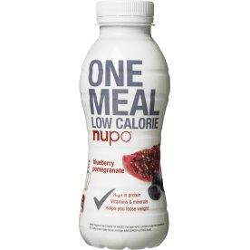 Nupo One Meal Shake blåbær & granatæble, 330 ml