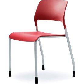 Multi kantine/konferencestol Rød/sølvfarvet