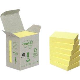 Post-it Green Notes 51 x 38 mm, genbrug, gul