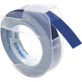 Dymo 3D prægetape 9mm, hvid på blå
