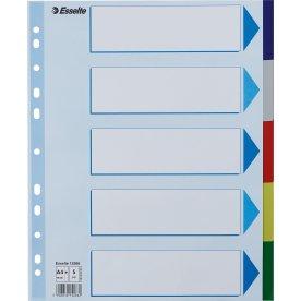 Esselte Maxi faneblade A4, 5 faner, plast
