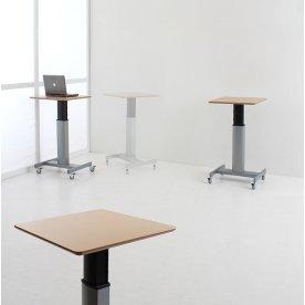 Movon mobilt hævesænkebord 60x60 cm ahorn/alu