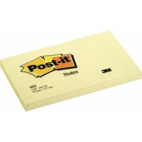 Post-it memoblokke 76 x 127mm, gul