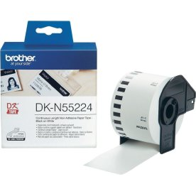 Brother DKN55224 papirtape, 54mm, hvid