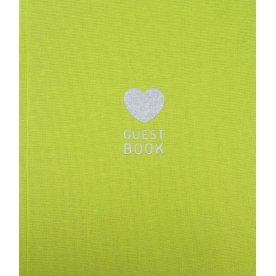 Mayland Gæstebog, grøn textil, FSC Mix