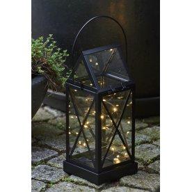 Aske lanterne, Sort, H 32 cm, 20 LED lys