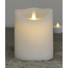Sara LED vokslys, Hvid, Ø.10 cm, H.12,5 cm