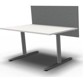 Easy bordskærmvæg H65xB80 cm grå