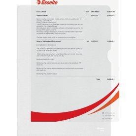 Esselte chartek m. præg, A4, 0,12 mm, PP, 100 stk.