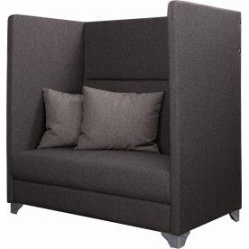 Silence 2 pers. høj mødesofa inkl. 2 puder grå