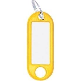 O-ring nøgleskilte, 10stk, gul