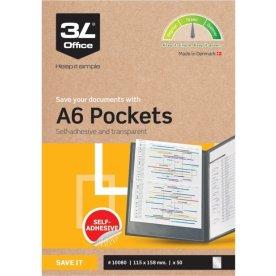 3L lomme A6, 115x158mm, selvklæbende, 50stk