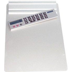 Clipboard med lommeregner og lineal
