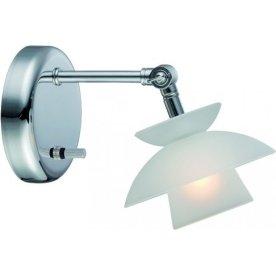 Mini Dallas væglampe Ø 12,5 cm børstet stål
