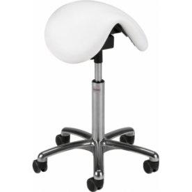 CL Pinto sadelstol, hvid, kunstlæder, 58-77 cm