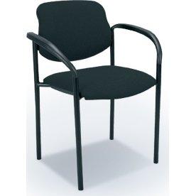 Daniel konferencestol med armlæn, sort