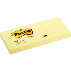 Post-it memoblokke 38 x 51mm, gul