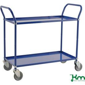 Rullebord 2 hylder, 1070x450x940, 250 kg, Blå