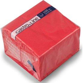 Papirserviet 24 x 24cm, 2-lag, 100stk, rød