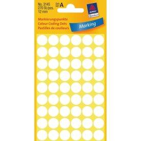 Avery manuelle etiketter 12 mm, hvid