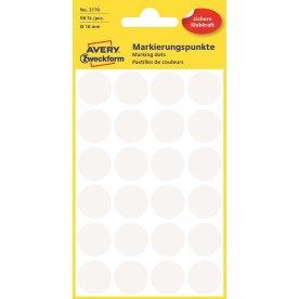 Avery 3170 manuelle etiketter, 18 mm, 96 stk, hvid
