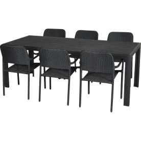Napoli havemøbelsæt til 6 pers. - letvægtsstole