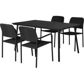 Genova havemøbelsæt til 4 pers. - letvægtsstole