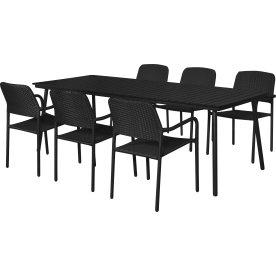 Milano havemøbelsæt til 6 pers. - letvægtsstole