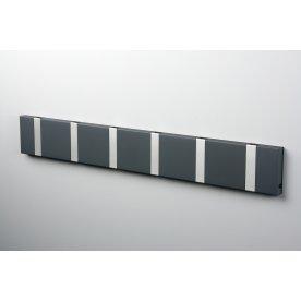 KNAX 6 knagerække, vandret, antracit/grå