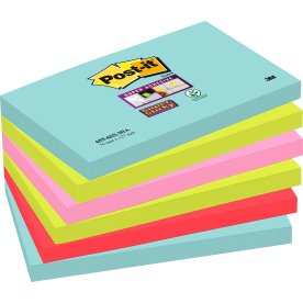 Post-it Super Sticky Notes 76 x 127 mm, Miami