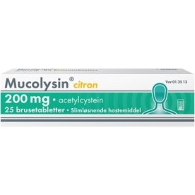 Mucolysin Brusetabletter, 200 mg, 25 stk.