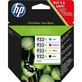 HP 932XL/933XL XLblækpatron sampak, 4stk.