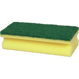 Rengøringssvamp med grøn skureflade