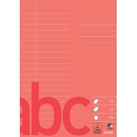 Bantex kladdehæfte A5, linjeret, rød