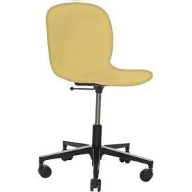 RBM Noor mødestol lys gul med Alu base