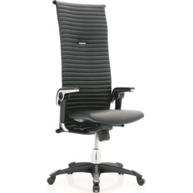 HÅG H09 Kontorstol sort aluminium/sort læder High